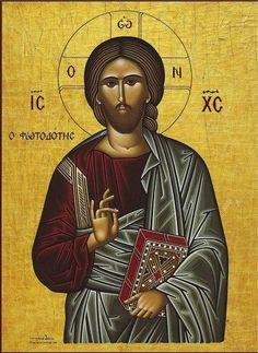 "Orthodox icon of Jesus Christ the ""Light Giver"" – orthodoxmonasteryicons.com"