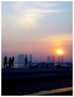 sunrise and busy people #Jakarta