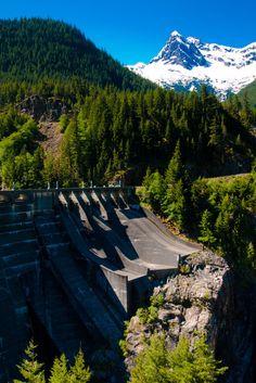 Diablo Dam, Whatcom County, Washington, USA