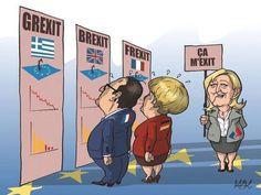 Grexit Brexit Frexit