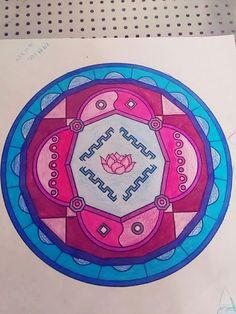 #mandala #color #arcoíris #meditacion #rosado #flordeloto #calma #azul