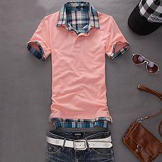 Men'S Short Sleeve Slim Fit Polo Shirt