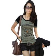 Camisa mulheres camiseta camisetas mujer camiseta femme feminina roupas de manga curta t-shirt verão t mulher vetement femme(China (Mainland))