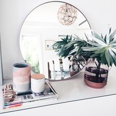 This stunning large round mirror with slim metal frame is just one of the beautiful pieces designed by Nic at Luum. Her ply furniture, particularly the newly release day bed, is winning hearts. Find out more about her and check out the full range by clicking through to the blog >>>