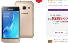 """Samsung Galaxy J1 Mini Duos com Dual Chip Tela 4.0"""" 3G Câmera de 5MP - 2 Cores Disponíveis << R$ 34999 em 10 vezes >>"""
