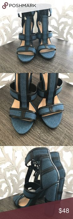 DENIM HEELS PRICE FIRM. SIZE 6 to 11. More details up in a bit. Style Link Miami Shoes Heels
