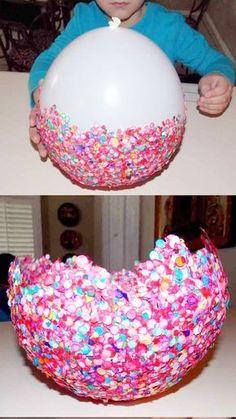 Ideas para decorar Fiestas Infantiles, Bandejas de confetti