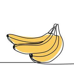 Fruit Illustration, Graphic Design Illustration, Illustration Styles, Fruits Drawing, Food Drawing, Minimalist Drawing, Minimalist Design, Vector Art, Vector Illustrations