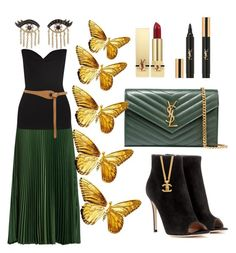 """""""Soho"""" by ellenfischerbeauty ❤ liked on Polyvore featuring Vanessa Bruno, Victoria Beckham, Gianvito Rossi, Yves Saint Laurent, Sydney Evan and Warehouse"""