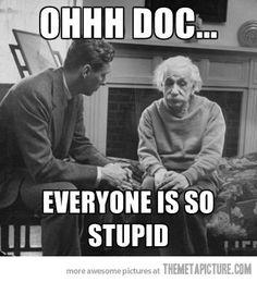Einstein doing therapy :)