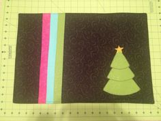Christmas placemat: alternative colors
