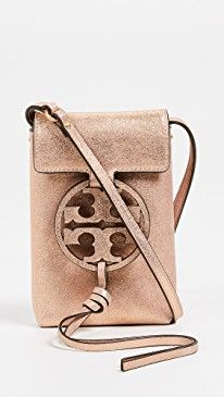 pretty nice 02835 313e1 Tory Burch Miller Metallic Crossbody Phone Pouch | On-Trend Shoulder ...