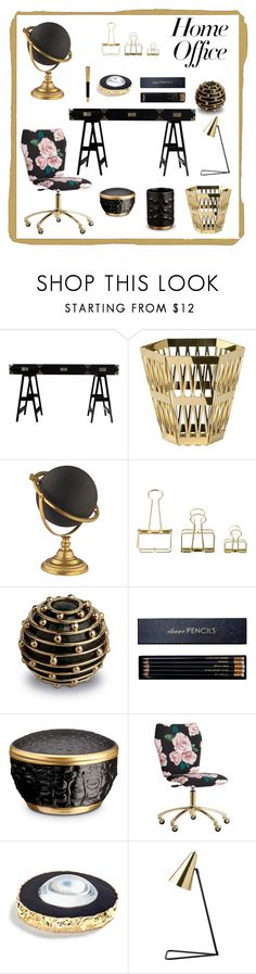 """Home office"" by krista-zou on Polyvore featuring interior, interiors, interior design, home, home decor, interior decorating, Selamat, Ghidini 1961, HAY and L'Objet"