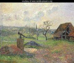 A Brick-Works Eragny, 1885 - Camille Pissarro