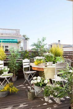 terrazzo-coperto-decorazioni-floreali-design | Giardino | Pinterest