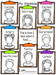 Use this activity as a lesson or as a counseling activity to teach students awareness of their emotions. Plus gives them a great way to learn their emotions and how to feel and deal with them. Group Therapy Activities, Emotions Activities, Counseling Activities, Play Therapy, Book Activities, Elementary School Counseling, School Social Work, School Counselor, Social Emotional Development
