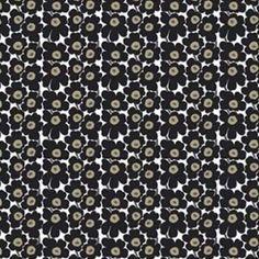 Unikko Mini Black (swedishfabric)