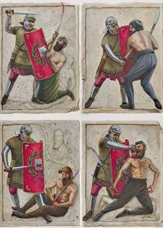 Murals showing the final moments of a Dacian warrior. Roman History, Art History, Military Art, Military History, Ancient Rome, Ancient History, Medieval, Roman Legion, Roman Soldiers