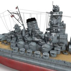 Japanese Battleship Yamato Model available on Turbo Squid, the world's leading provider of digital models for visualization, films, television, and games. Yamato Class Battleship, Space Engineers, Heavy Cruiser, Imperial Japanese Navy, Musashi, Submarines, Model Ships, Plastic Models, Armed Forces