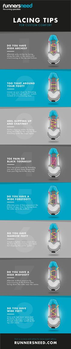 How are you lacing up? Lace your shoes based on your feet for more support and comfort. Get running and hiking shoes at Proozy.com! #hike #run #runningshoes #shoelaces #fitness