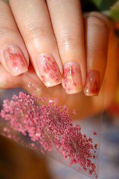 Nail Art - Dried Flower