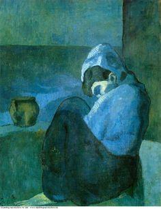 Picasso. Femme assise au capuchon, 1902.