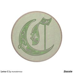 Letter C Drink Coaster  #Alphabet #Letter #Embossed #Art #Celtic #Fashion #Home #Decor #Drink #Beverage #Coaster