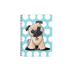 KiniArt Pug Notebook #pugs #dogs #puppy #puppies #dogbreeds #pets