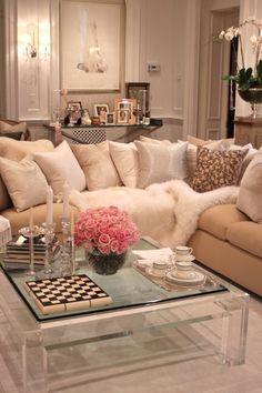 Cozy Glam Living Room