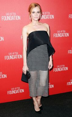 Diane Kruger from The Best of the Red Carpet  Diane-do-no-wrong strikes again in a black and white Monique Lhuillier number paired with an L.K. Bennett clutch and Nicholas Kirkwood heels.