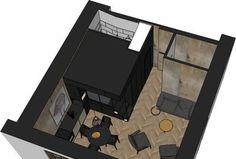 Appartement Paris 10 : 32 - Home Decora La Maison Small Apartment Design, Small Space Design, Condo Design, Small Apartments, House Design, Small Rooms, Small Spaces, Cubes, Room Design Images