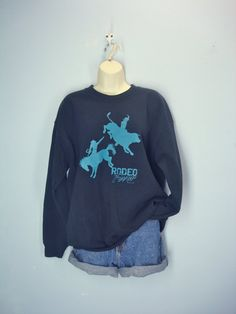 Vintage Sweatshirt / Rodeo Western Sweatshirt / by ShirleyBoutique