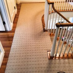 Check out this custom Stanton Carpet stair runner that we fabricated and installed.