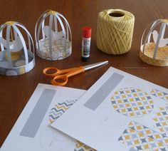 Pretty Little Paper Bird Cages
