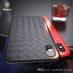 Baseus Luxury Grid Pattern Case For iPhone X Cases Ultra Thin Soft Silicone Protective Case For iPhoneX Cover Matte Coque Funda Iphone 8, Cool Iphone Cases, Coque Iphone, Used Iphone, Apple Iphone, Mobiles, Apple Mobile Phones, Iphone Gadgets, Bling