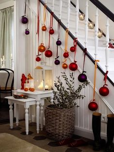 18 Ways to Decorate With Ornaments Other Than On Your Christmas Tree! - thegoodstuff