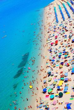 Island of Brac, Croatia - one of the top 10 beaches in the world. The shape of the beach shifts with the changes in tide, currents and