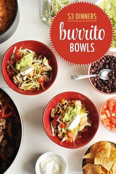 burrito bowls at home