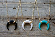 Hey, I found this really awesome Etsy listing at https://www.etsy.com/listing/468135168/double-horn-necklace-boho-horn-necklace