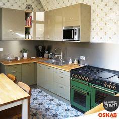 cr dence cuisine ardoise blanc et plan de travail en bois ma cuisine pinterest plan de. Black Bedroom Furniture Sets. Home Design Ideas