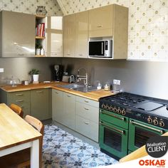 Cr dence cuisine ardoise blanc et plan de travail en bois - Plan de travail credence cuisine ...