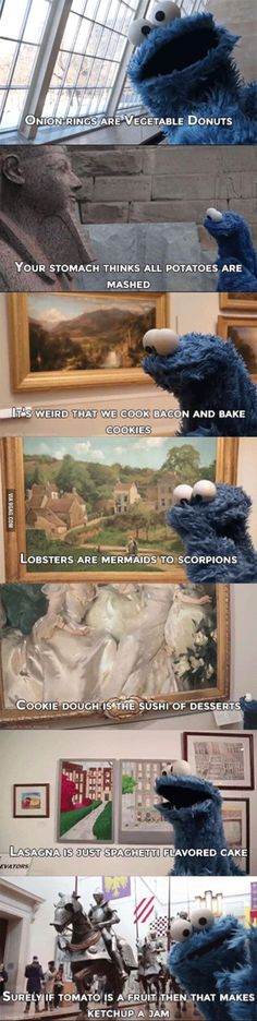 Deep thoughts Cookie Monster - 9GAG