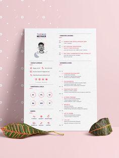Graphic designer resume - Creative Resumes & Personal Branding - Graphic Designer Resume / CV Creative infographic resume by Thomas Meynier. Resume Design Template, Cv Template, Resume Templates, Infographic Resume, Creative Infographic, Infographic Templates, Resume Layout, Resume Cv, Free Resume