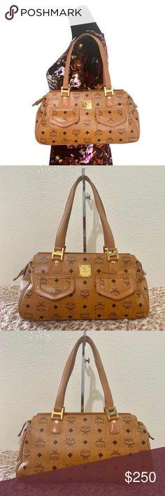 ec828a4f45f57 MCM Authentic Brown Cognac Two front Pocket Should Has three pockets  inside. Preloved MCM Shoulder