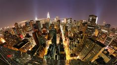 Image for New York City At Night Background Wallpaper