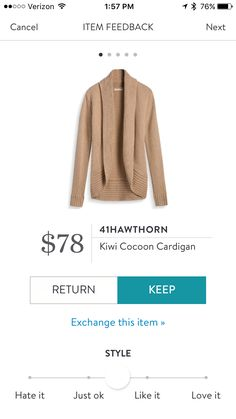 41hawthorn kiwi cocoon cardigan stitch fix
