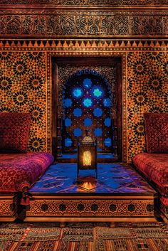 The tile work you see in the middle east are infused with color and pattern