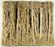 cardboard paper mache | ... Papier Mache and Paper Clay / Eva Jospin - amazing cardboard forest