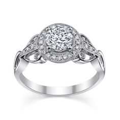 Oh Em Gee....Simon G. Platinum Diamond Engagement Ring Setting - robbins brothers