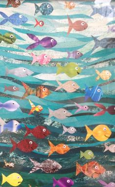 Fish collage inspired by my 2 year old